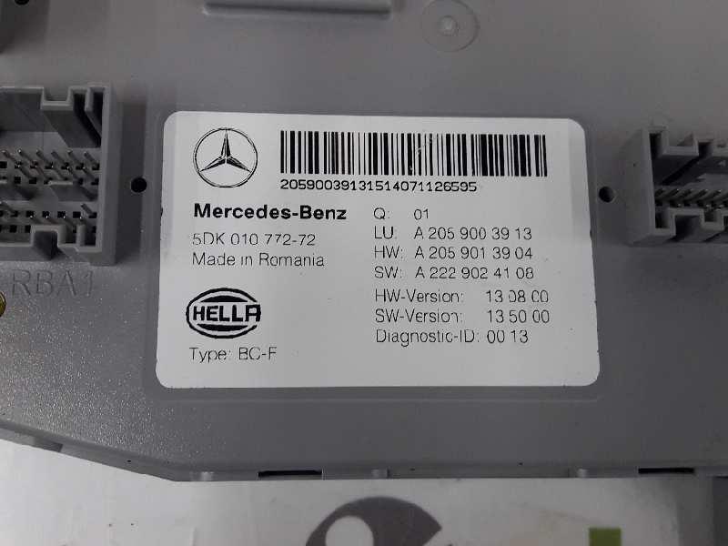 fuse box a2059003913 mercedes-benz, c-class (w205) c 220 bluetec