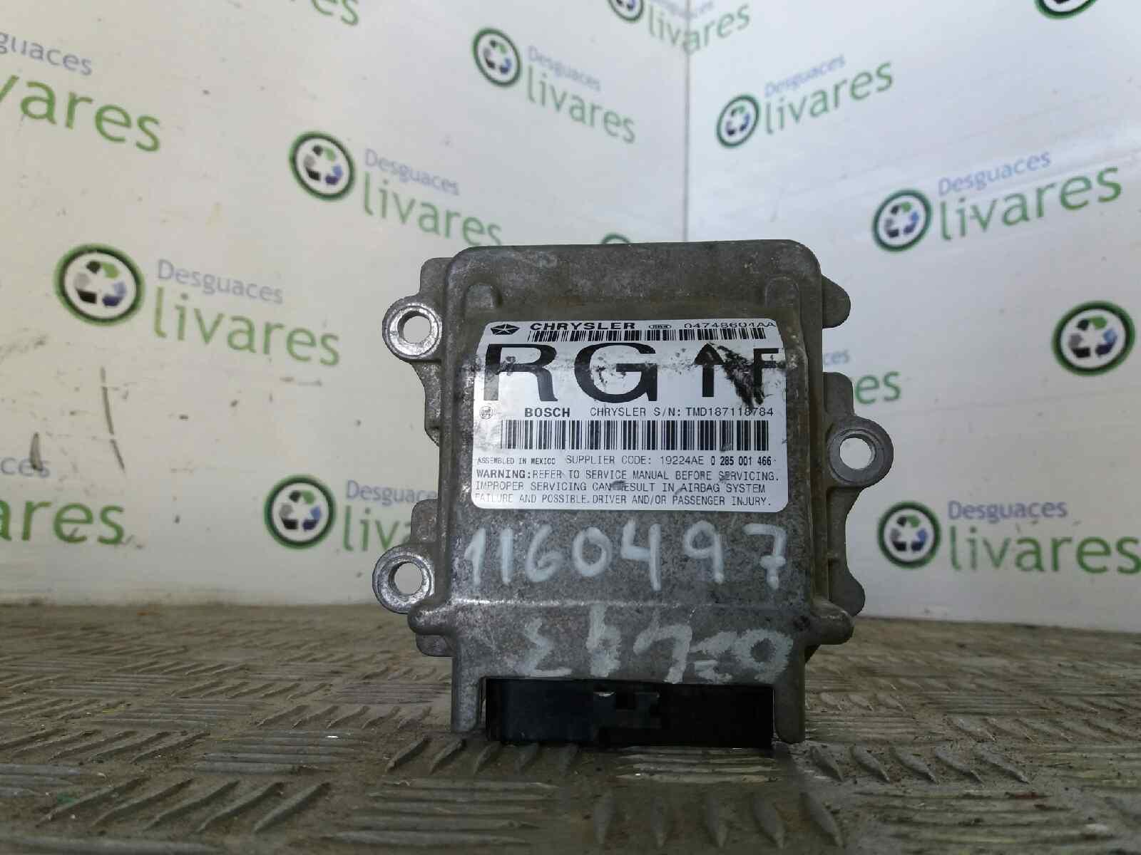 ... Airbags ECU 04748604AARG CHRYSLER, VOYAGER IV (RG, RS) 2.5 CRD(2 ...