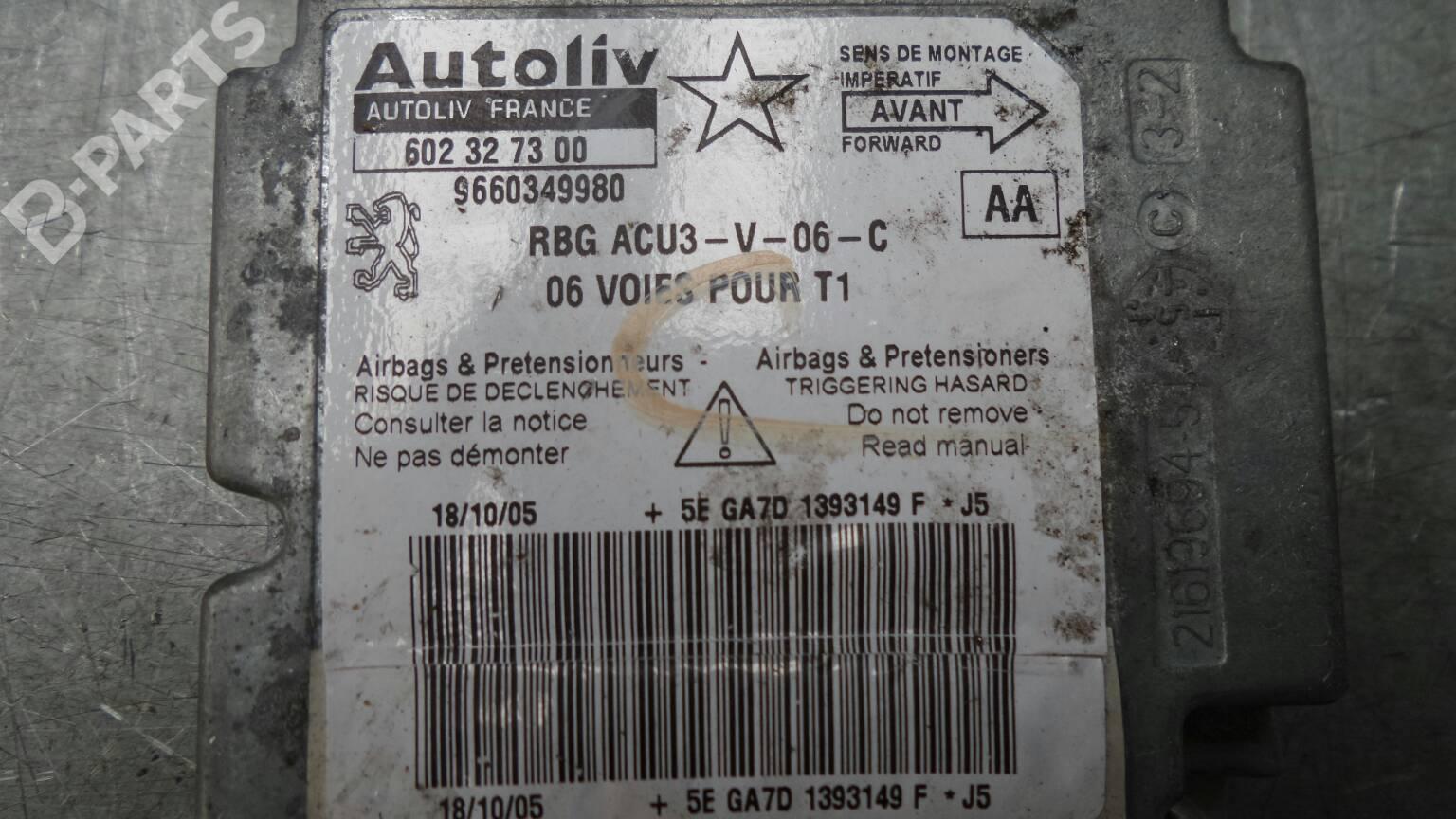 Airbags Ecu Peugeot 206 Hatchback 2a C 14 Hdi Eco 70 269045 J5 Fuse Box 9660349980