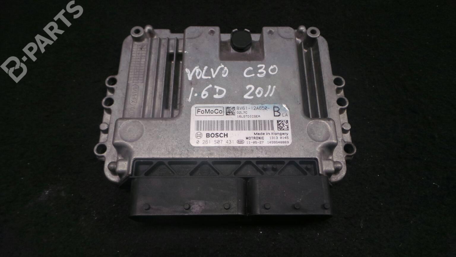 Engine Control Unit Ecu Volvo C30 533 16 D 37931 Fuse Box For 2008 Bv61 12a650 Dzl7c 0261s07431