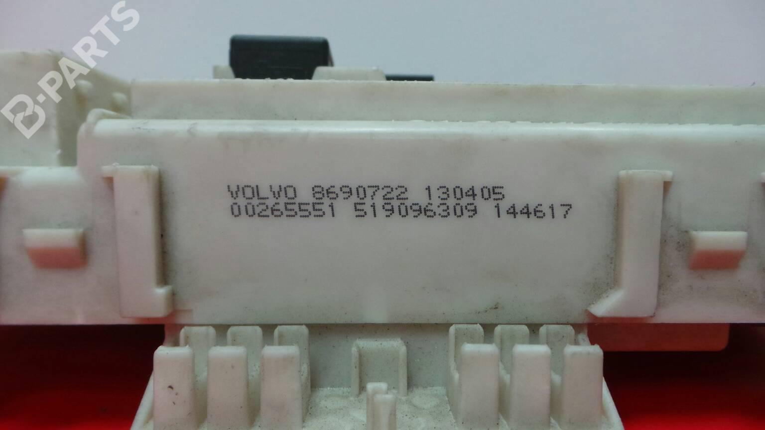 ... Fuse Box 8690722 / 0 0265551 VOLVO, S40 II (MS) 2.0 D4(
