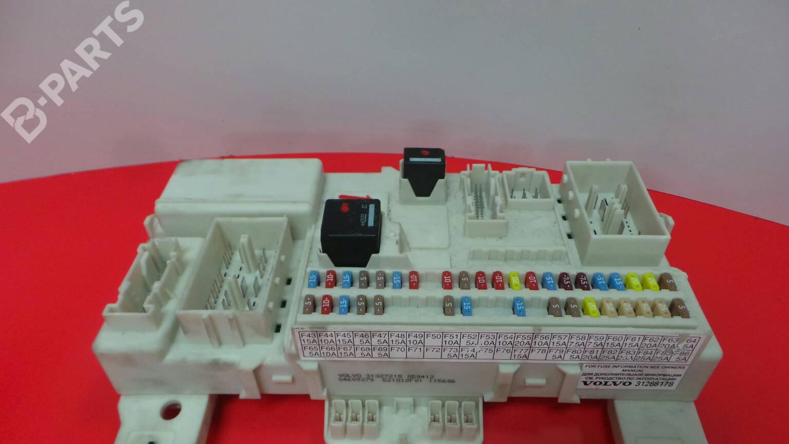 Fuse Box Volvo V50 Mw 16 D2 1278329 31327215 04609379 D25 Doors