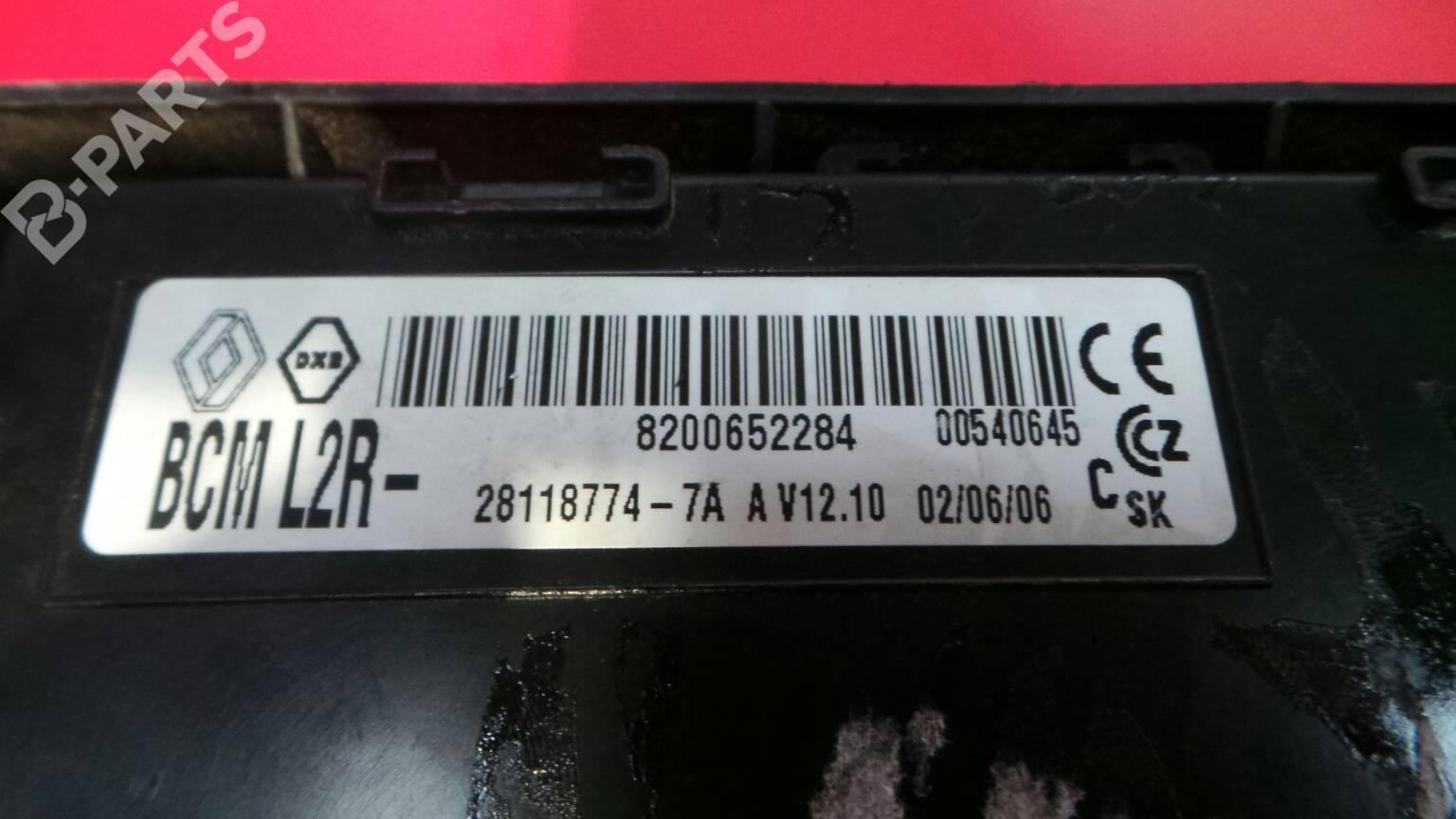 fuse box 8200652284 / 28118774-7a renault, clio iii (br0/1,