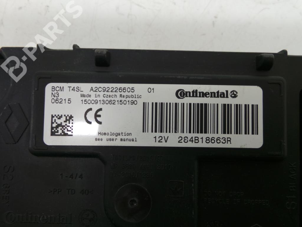 ... Fuse Box A2C92226605 / 284B18663R RENAULT, CLIO IV (BH_) 1.5 dCi 90(