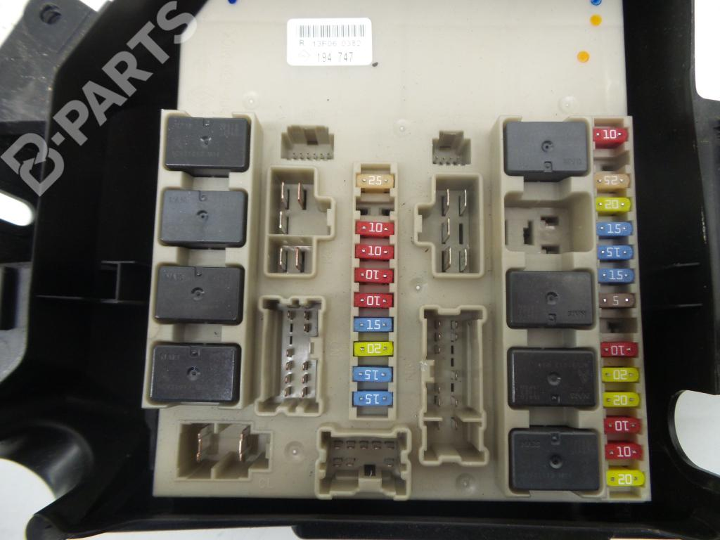Fuse Box Renault Clio Iii Br0 1 Cr0 15 Dci 1222715 For R13f060382 194747