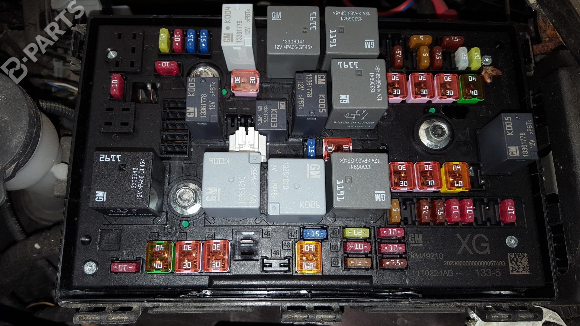 Opel Astra J Fuse Box Wiring Library Ts Location 13449210 1110224ab1335 P10 16 Cdti 68