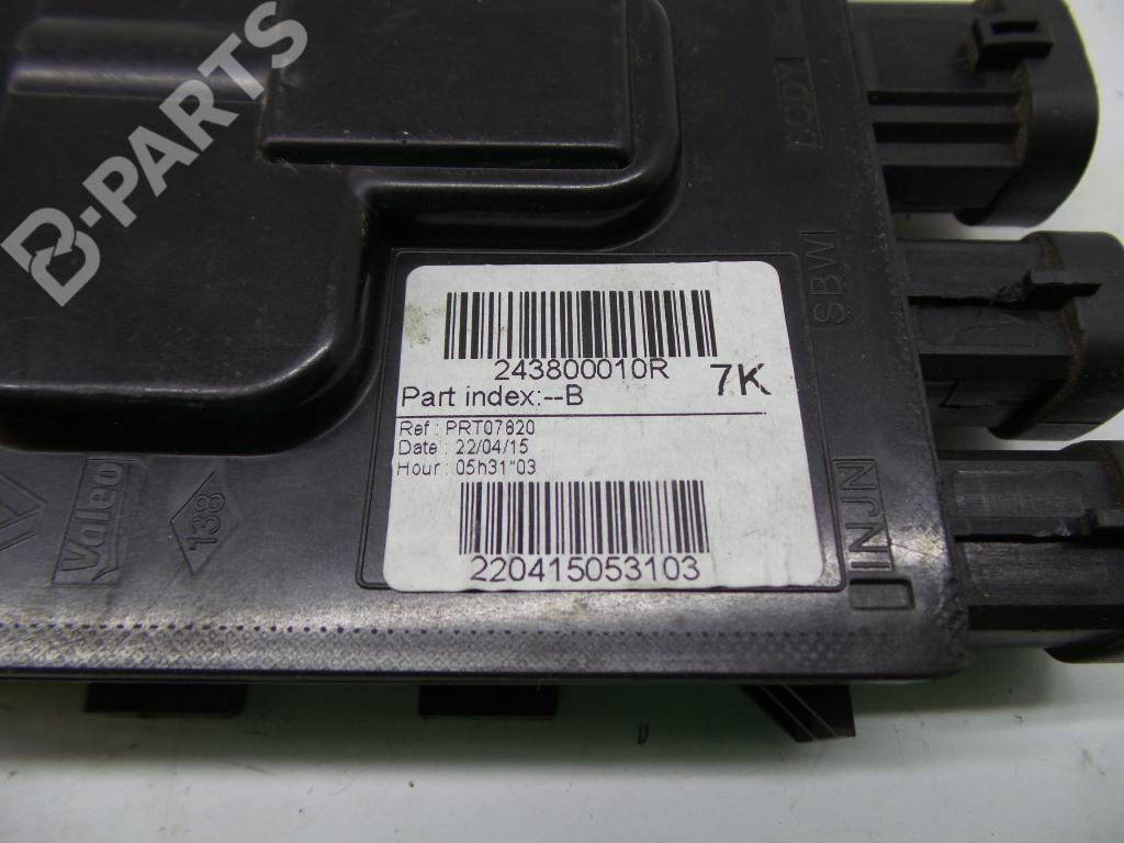 ... Fuse Box 243800010R RENAULT, MEGANE III Hatchback (BZ0_) 1.2 TCe(5 doors