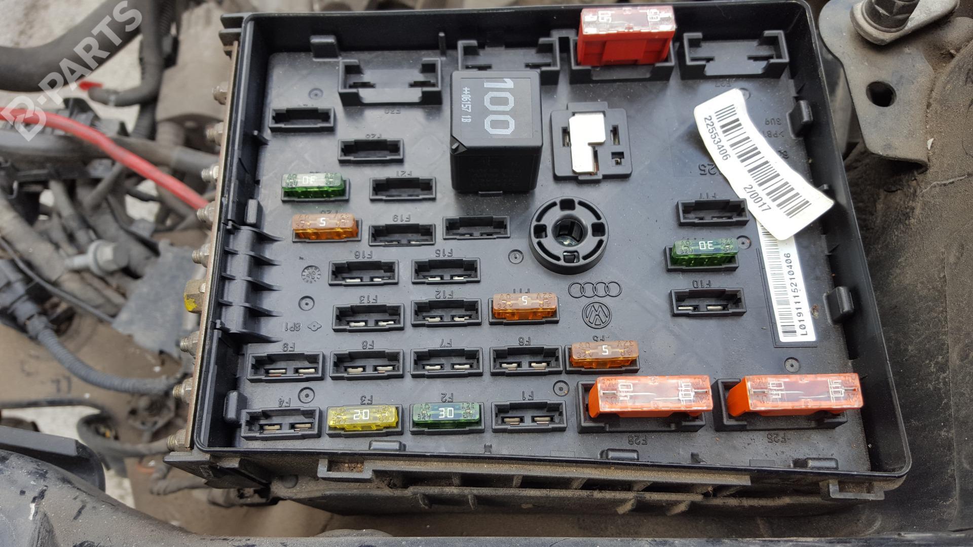 fuse box 3c0937125 / 6359-2777 vw, passat variant (3c5) 2 0 tdi