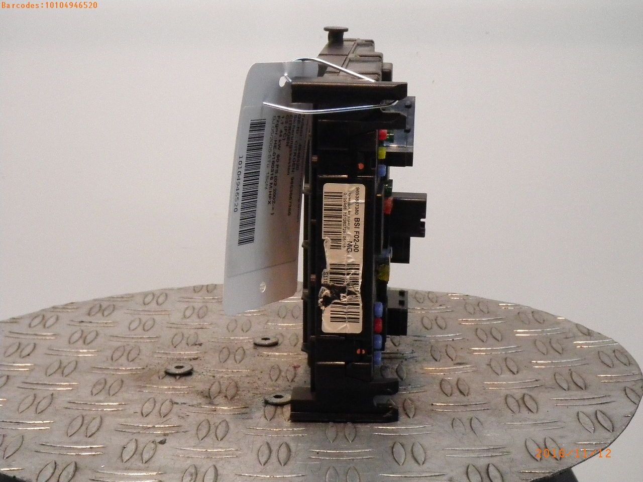Fuse Box Citron C3 I Fc 11 947689 9653667380 Citroen Bsif0200mg Zentralelektrik