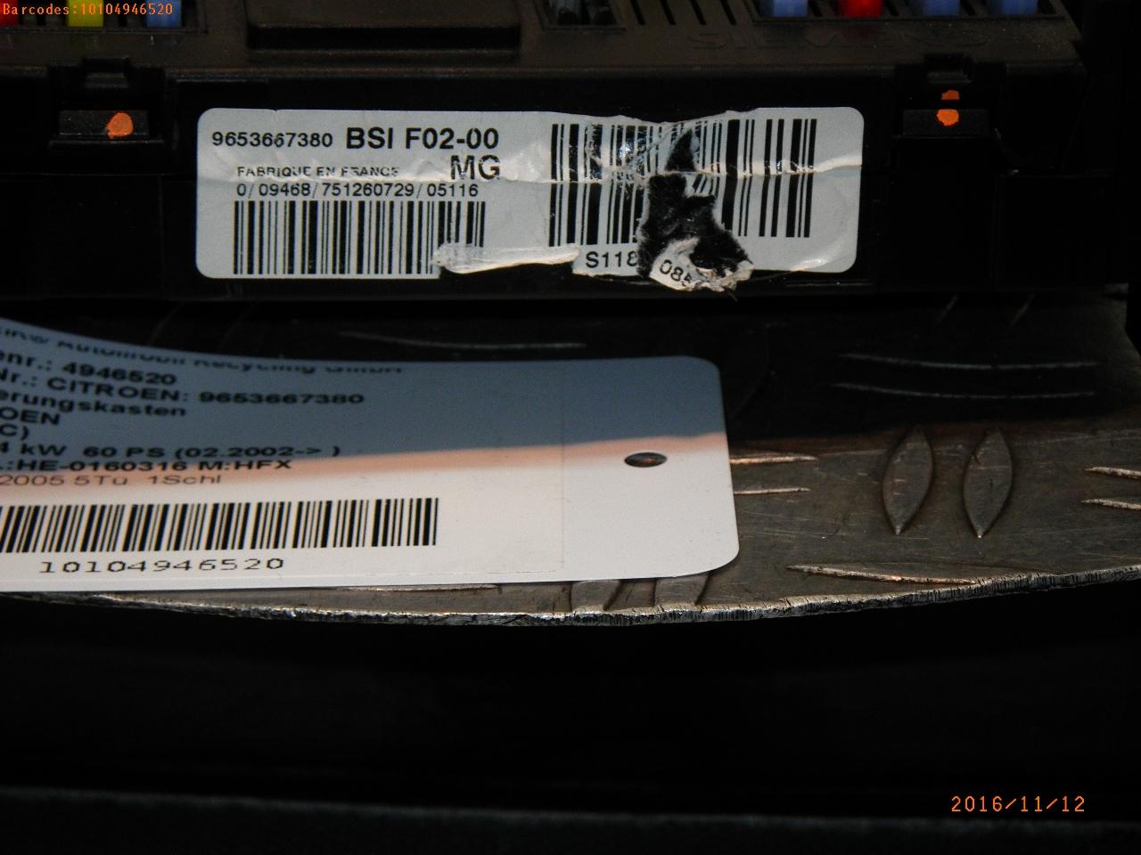 Fuse Box In Citroen C3 Wiring Library Glove 9653667380 Bsif0200mg Zentralelektrik Citron I