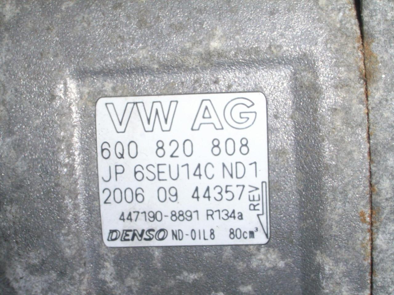 Ac Compressor Vw Polo 9n 16 16v 311573 Kompresor Denso 6q0820808 Vag Kurzes Kabel
