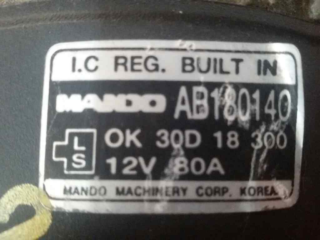 Alternator Kia Shuma Ii Fb 16 292273 Fuse Box Ab180140 0k30d18300 165 Doors