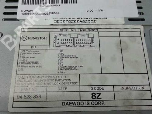 Radio Chevrolet Aveo Hatchback T250 T255 12 B Parts