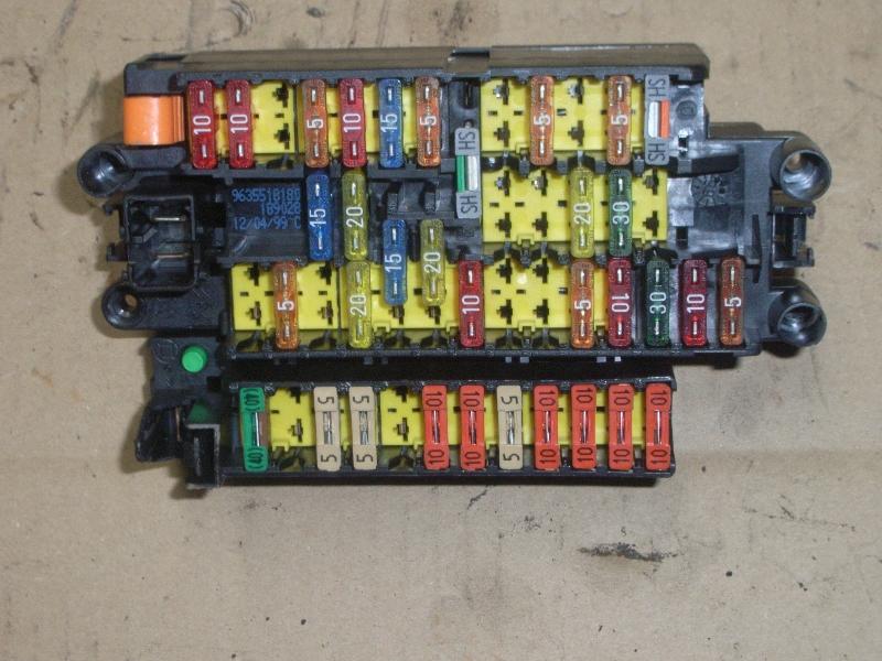 fuse box peugeot, 206 hatchback (2a/c) 1 4 i(3 doors