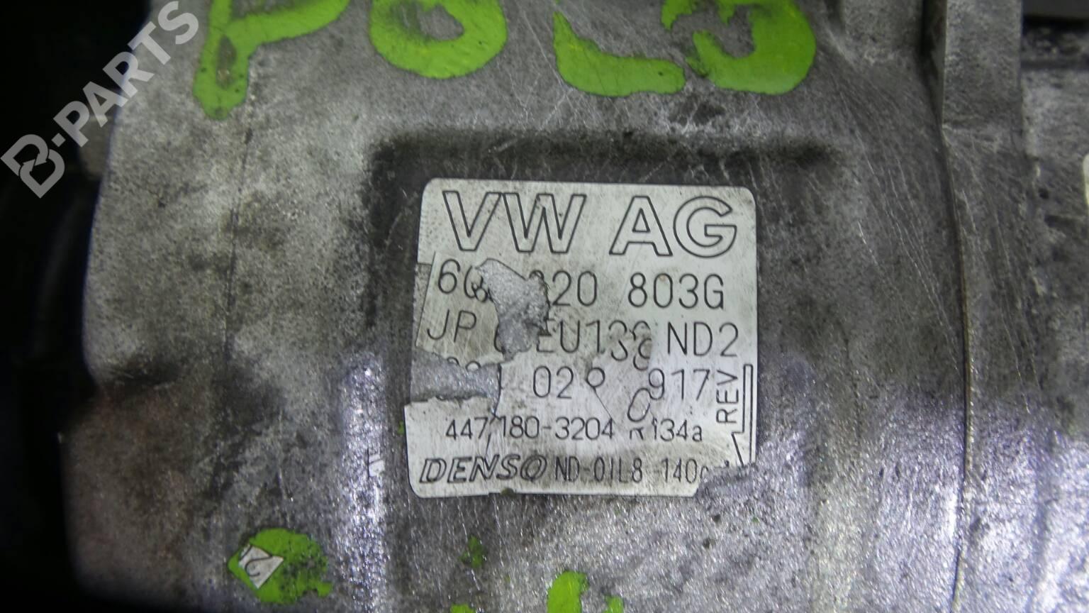 Ac Compressor Vw Polo 9n 14 16v 143742 Kompresor Denso 6q0820803g 447180 3204 16v5