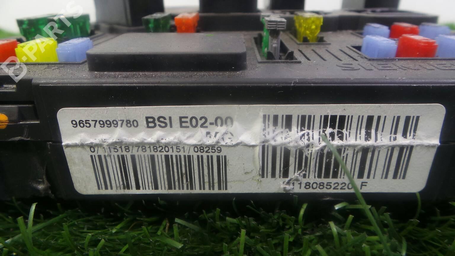 Fuse Box Peugeot 206 Sw 2e K 14 Hdi 1181823 Manual 9657999780 Hdi5