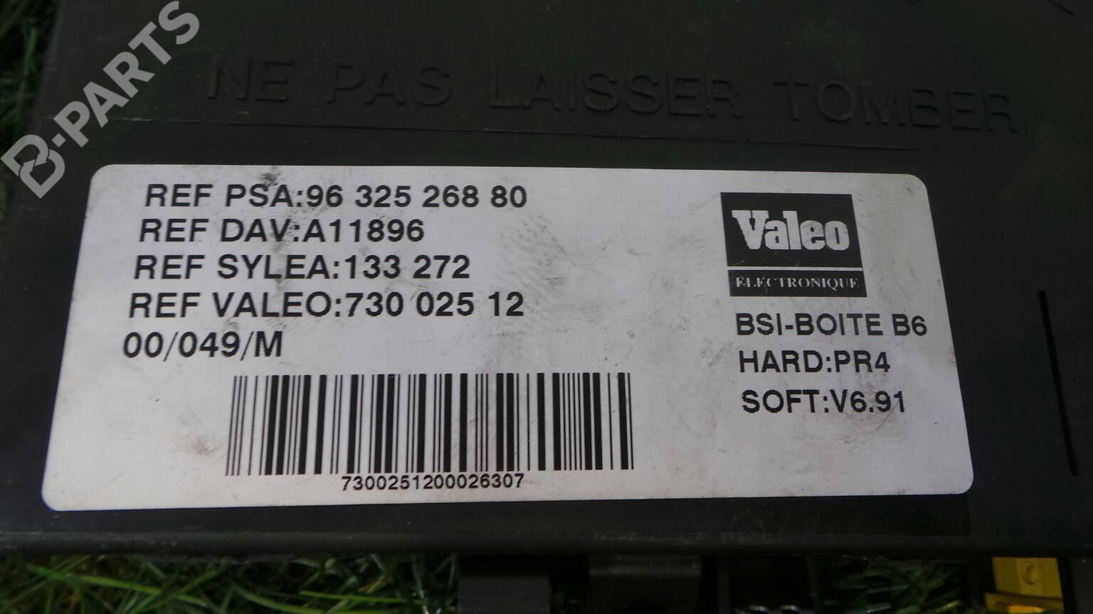 ... Fuse Box 96 325 268 80 CITROËN, XSARA PICASSO (N68) 1.6(5