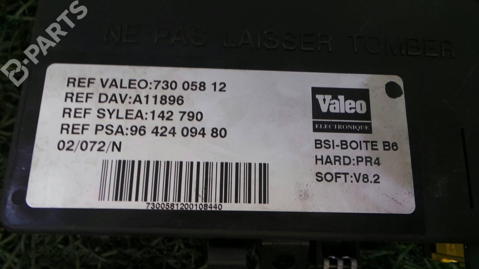 Fuse Box 96 424 094 80 CITROËN, XSARA (N1) 2.0 HDi 90( ...