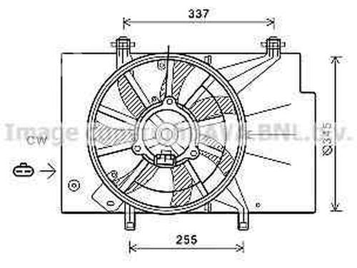 Radiator Fan Ford Fiesta Vi Cb1 Ccn 1 25